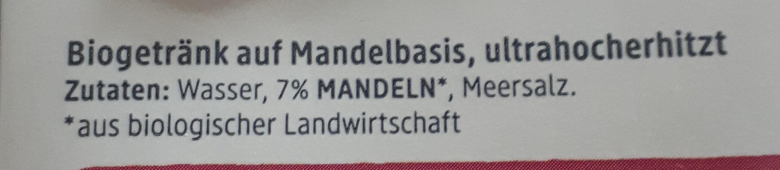 Mandeldrink natur - Ingredients - en