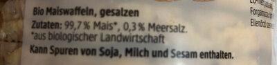 Mais waffeln - Ingredienti - de
