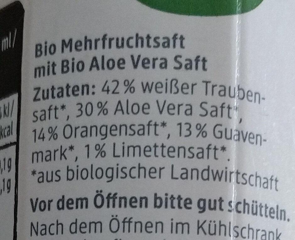 Aloe & Frucht - Ingredients - de