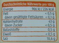 Backpulver mit Reinweinstein (dm Bio) - Informations nutritionnelles - de