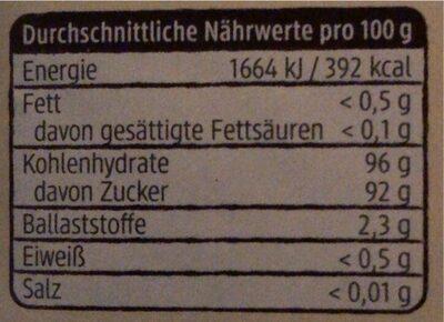 Bourbon Vanillezucker - Informations nutritionnelles - de