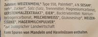 Knabbertiere - Ingredienti - de