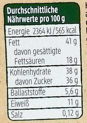 Schoko Karamel Mandeln - Informations nutritionnelles - de