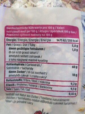 DM Bio Beeren Müsli - Valori nutrizionali - de
