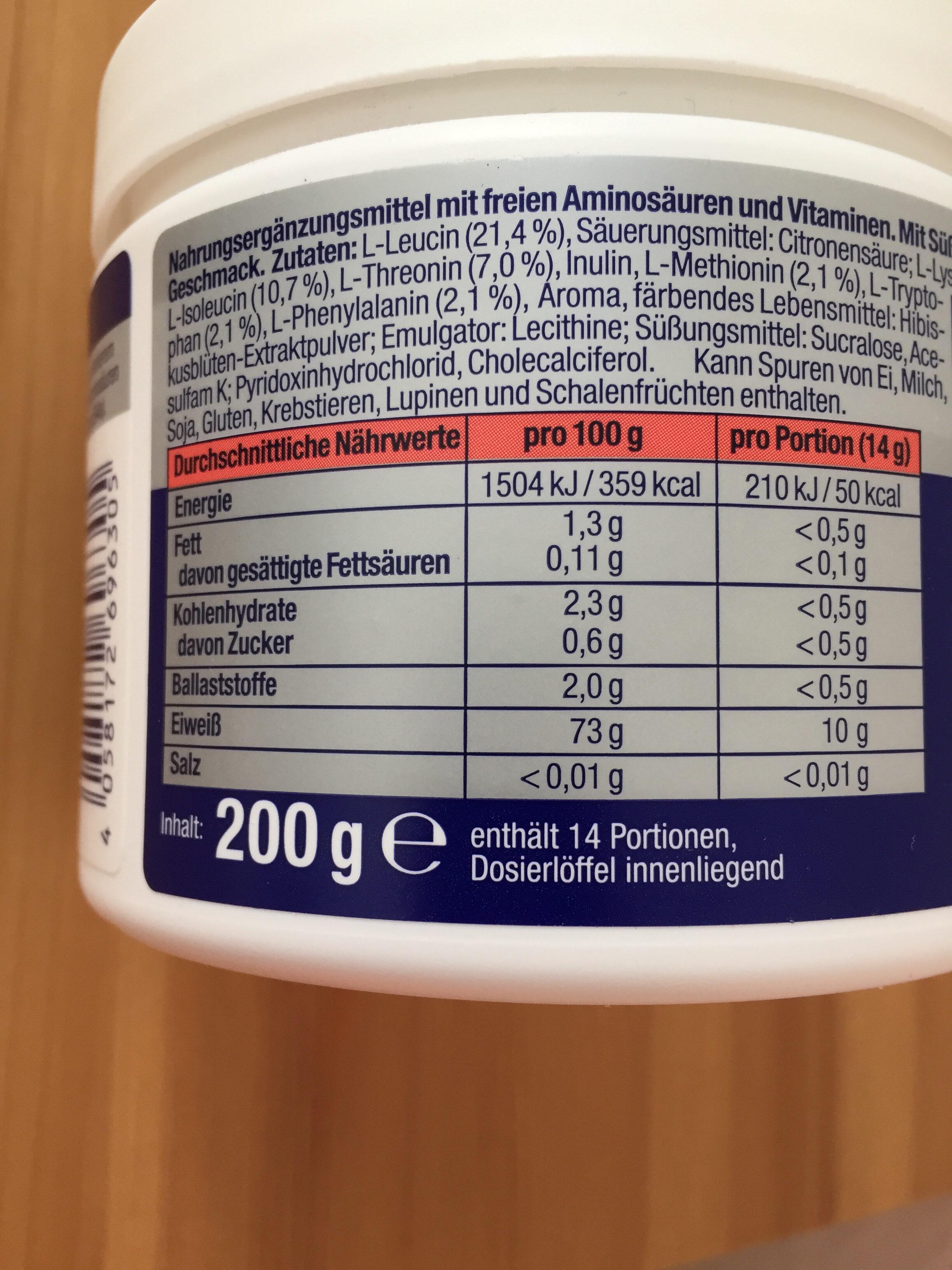 EAA Pulver - Nutrition facts - de