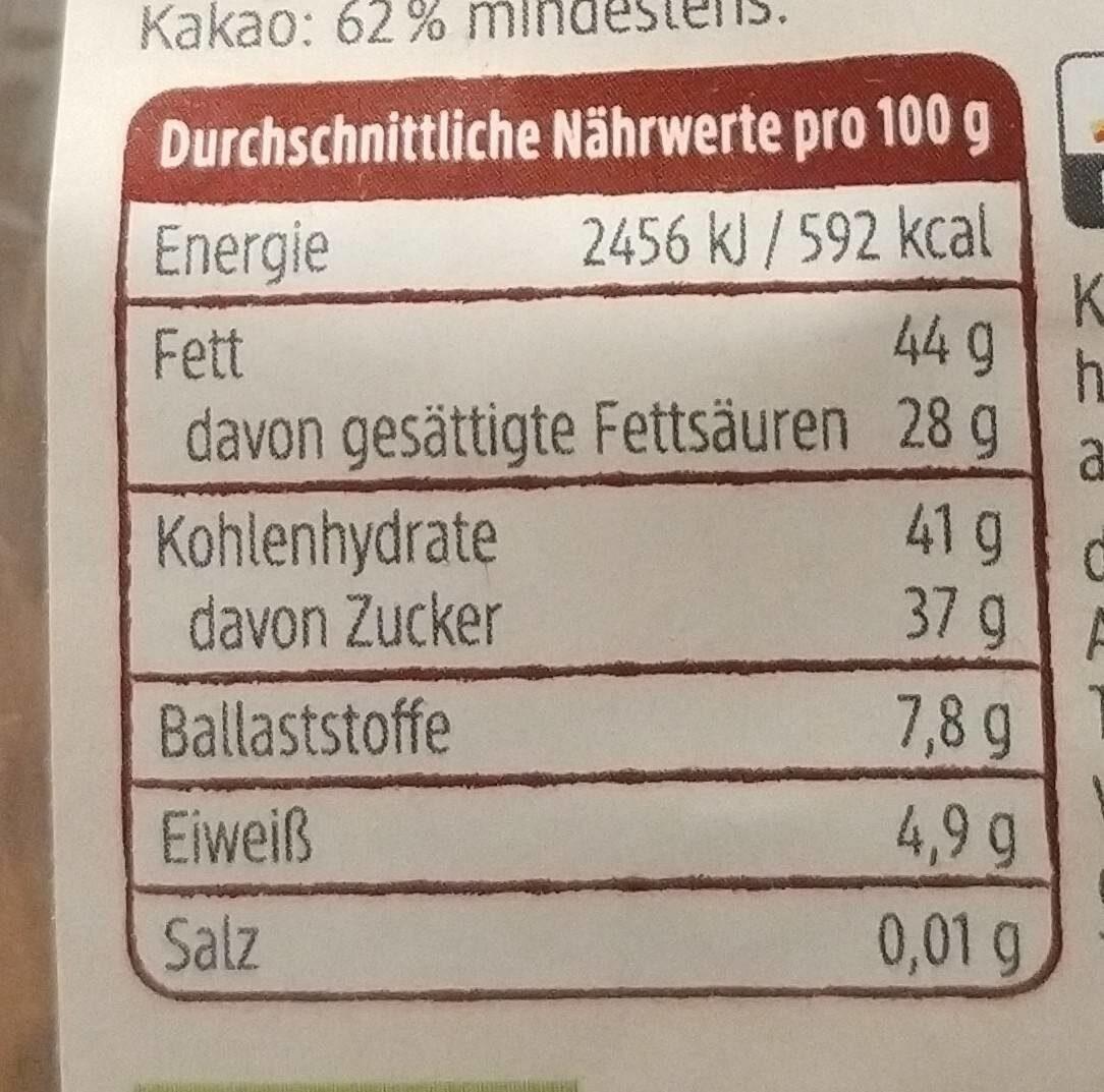Schokohase Feine Bitter - Informations nutritionnelles - de
