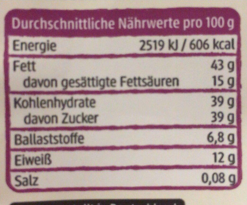 Nougat Mandeln - Informations nutritionnelles - de