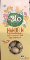 Mandeln in Zitronenschokolade mit Rosenblüten - Produit - de