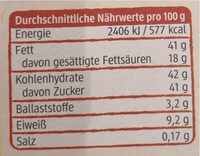 Mandeln in Zitronenschokolade mit Rosenblüten - Informations nutritionnelles - de