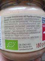 Streichcreme Toskana - Ingredienti - de