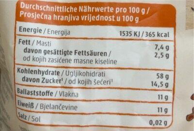 Früchte Porridge - Informations nutritionnelles - de