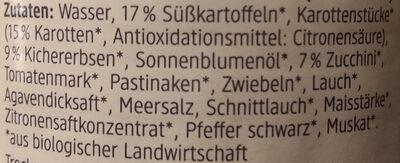 Gemüseaufstrich süsskartoffel - Zutaten - de