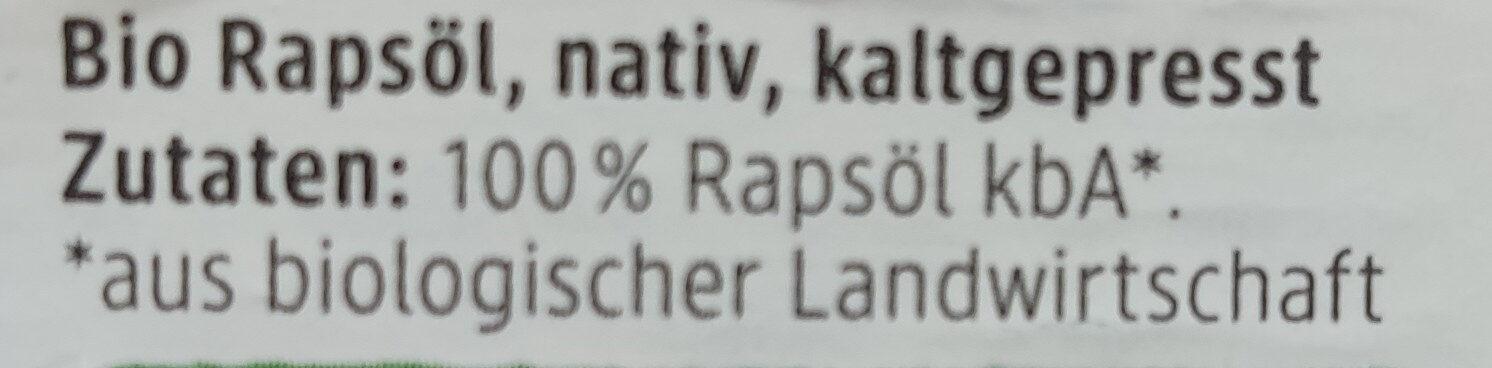 Raps Öl - Ingrédients - de
