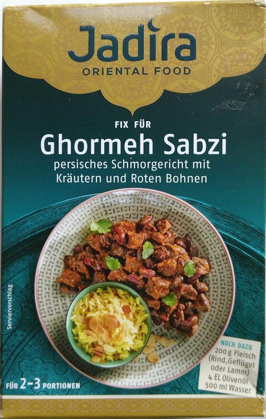 Ghormeh Sabzi - Produit