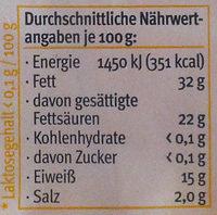 Sommergenuss - Nutrition facts - de