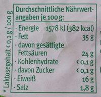 Der feine Bärlauch - Voedingswaarden - de