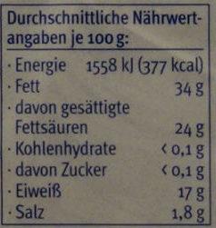 Badejunge - Wintergenuss - Voedingswaarden - de