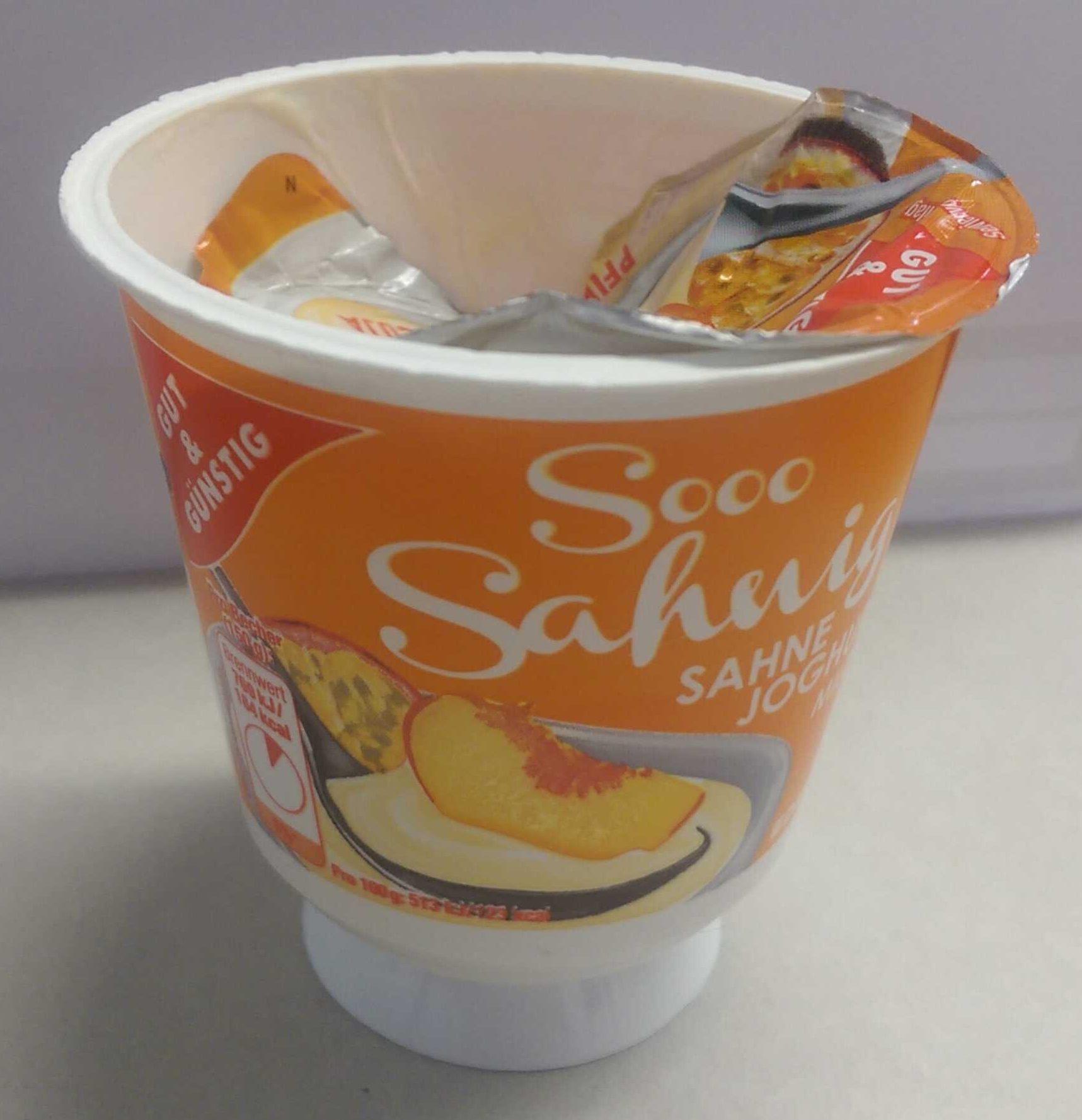 Sahnejoghurt Pfirsich-Maracuja G&G - Produit