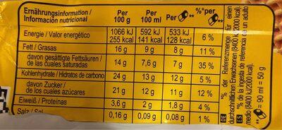 Domino sandwich de nata - Informations nutritionnelles - en