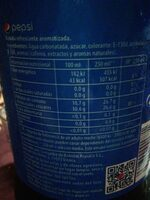 Bebida Refrescante Aromatizada - Información nutricional - en