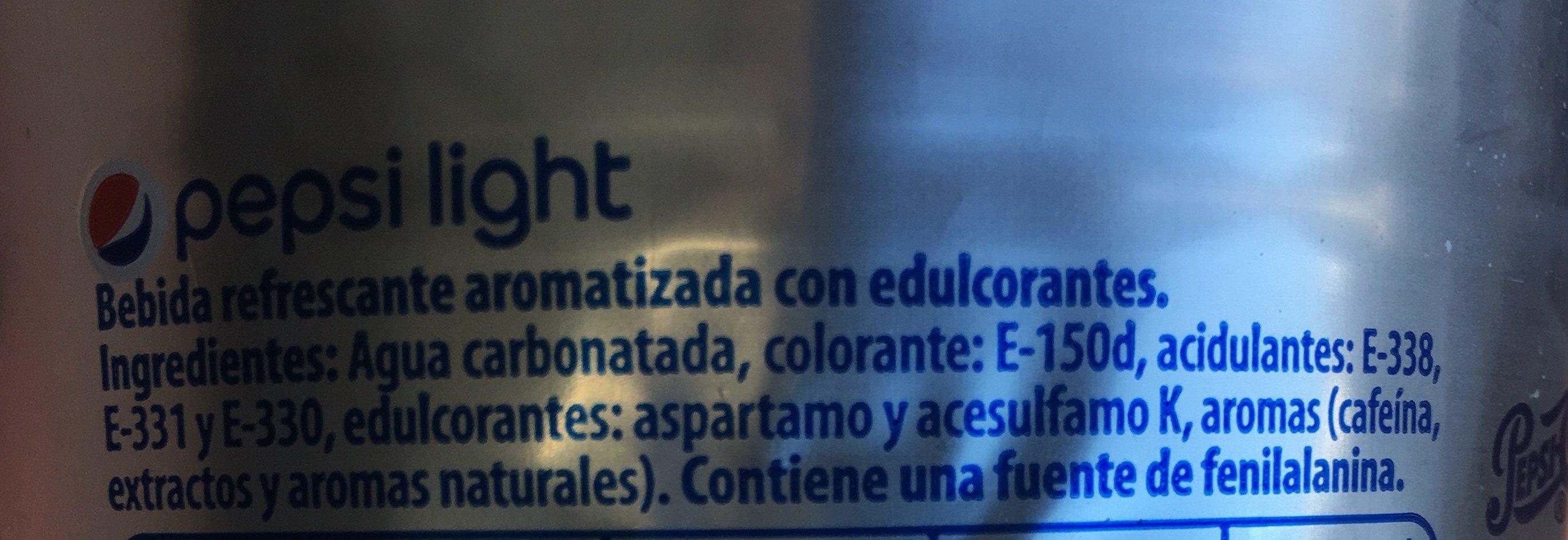 Pepsi Light - Ingrediënten