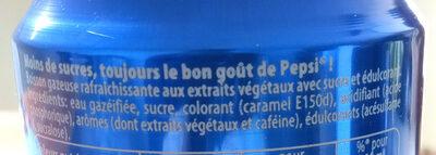 Pepsi - Ingredienti - fr
