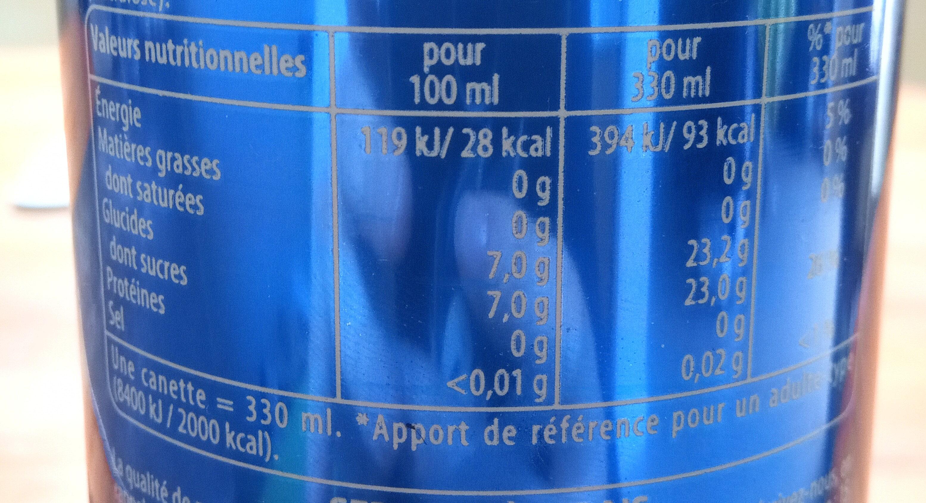 Pepsi - Valori nutrizionali - fr