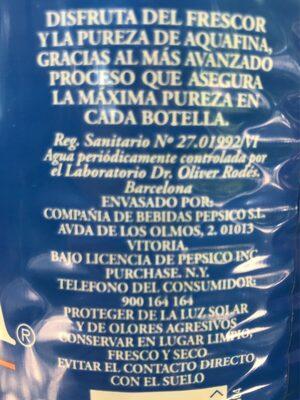 Agua - Ingredientes - es