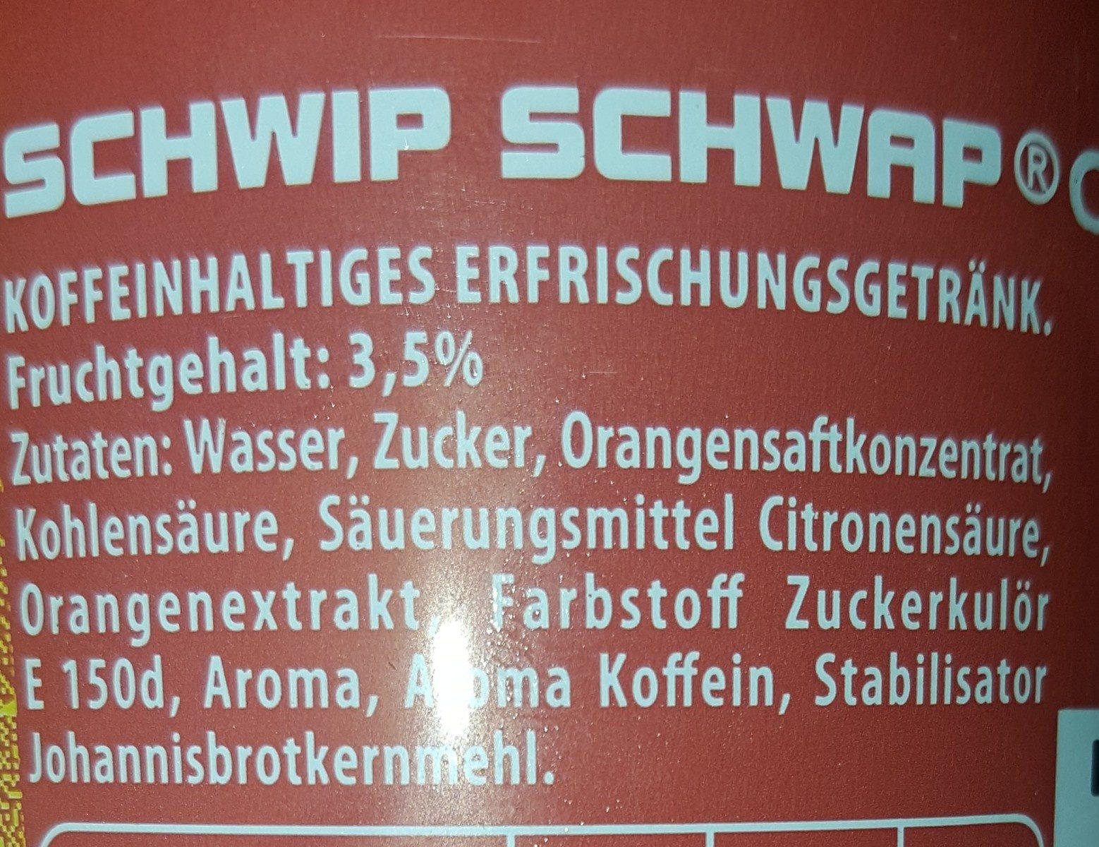 Schwip Schwap - Ingrediënten - fr