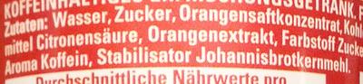 Schwip Schwap Cola + Orange - Ingredients
