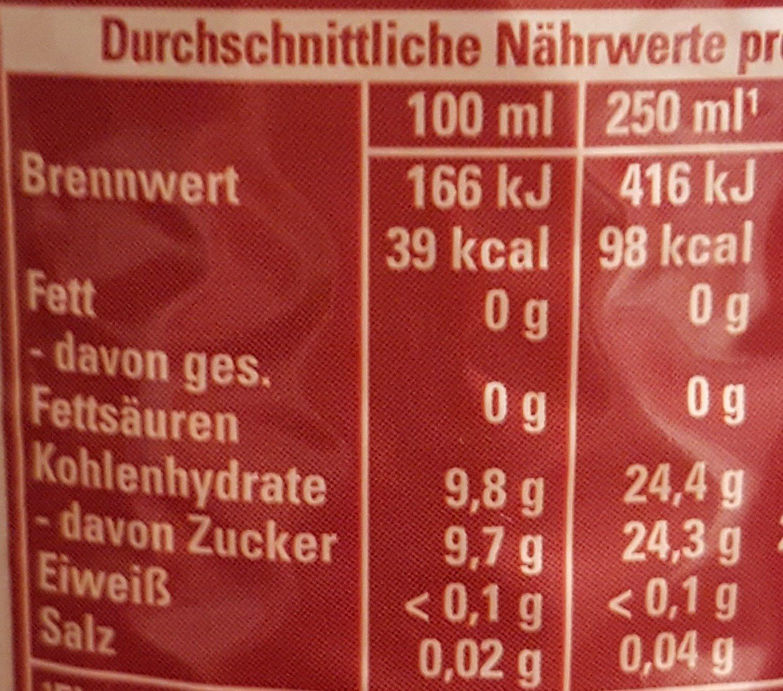 Schwip Schwap, Cola   Orange - Nutrition facts - de