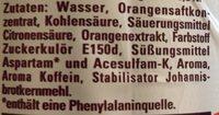 Schwip Schwap Cola + Orange Ohne Zucker - Ingrediënten