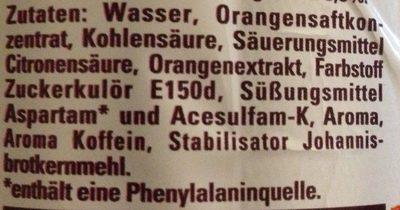 Schwip Schwap Cola + Orange Ohne Zucker - Inhaltsstoffe