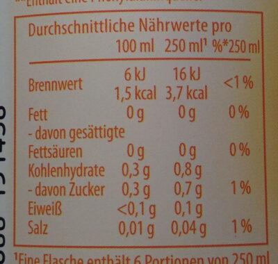 Schwip Schwap Cola + Orange Ohne Zucker - Nährwertangaben