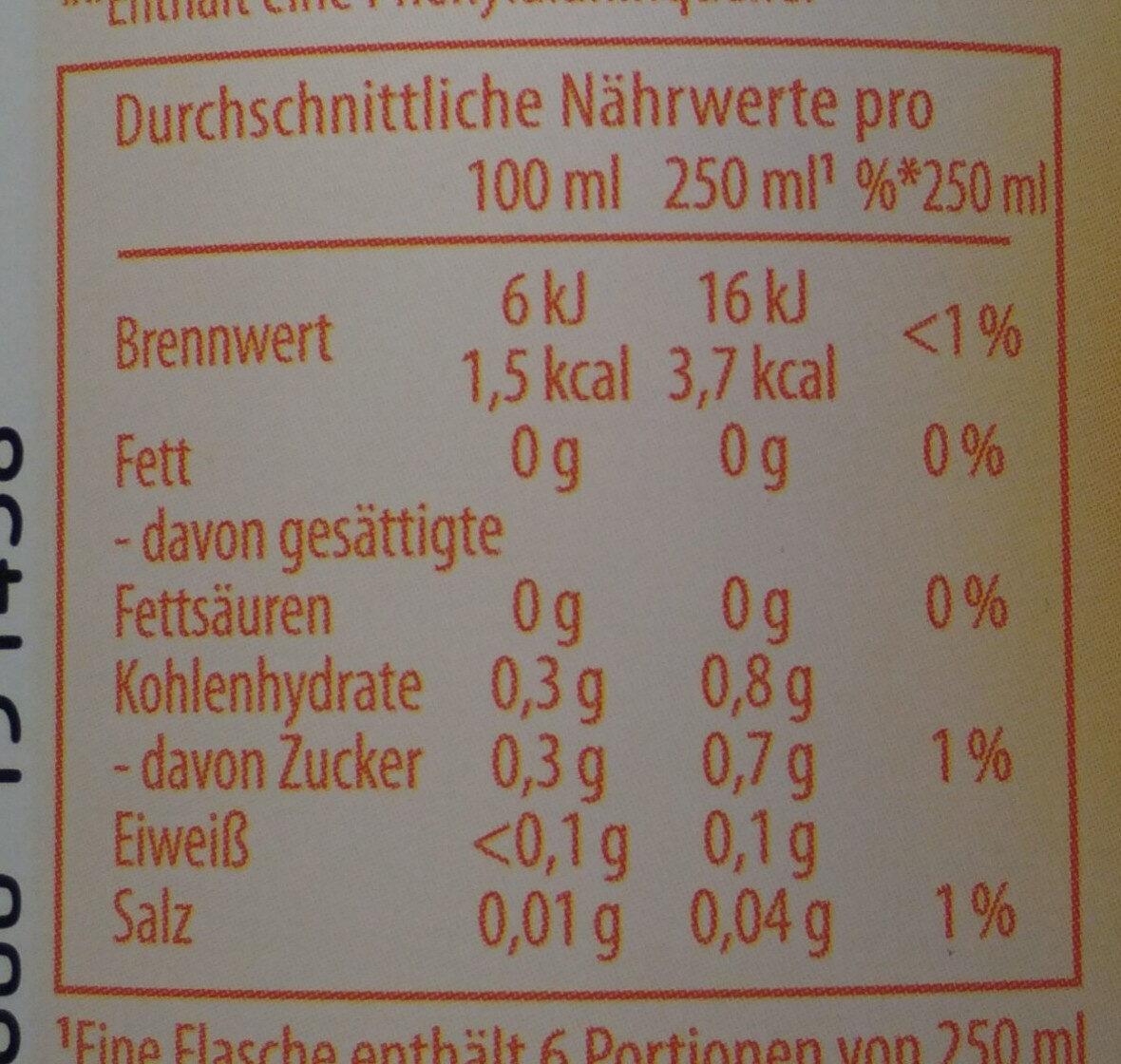 Schwip Schwap Cola + Orange Ohne Zucker - Voedingswaarden