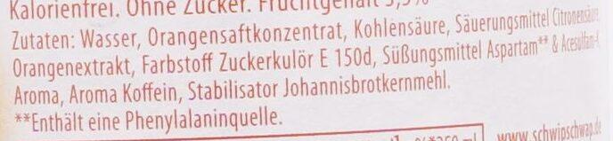 Schwip Schwap Zero - Ingredienti - de