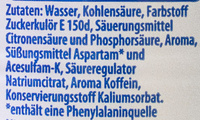 Pepsi light lemon - Inhaltsstoffe
