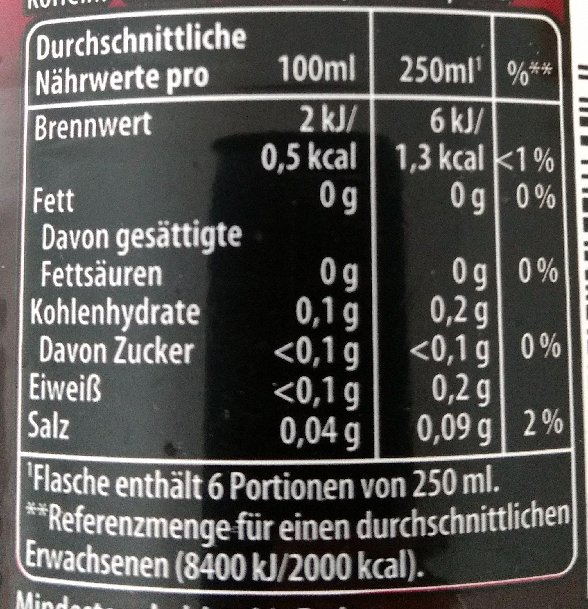 Pepsi Max Cherry - Informations nutritionnelles - de