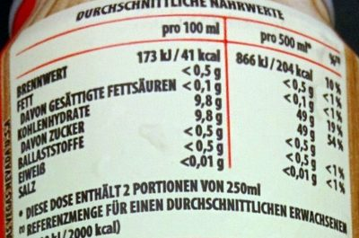 Organic Strawberry Flavour - Nährwertangaben - de