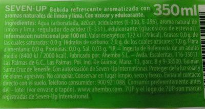 7UP - Ingredientes - es