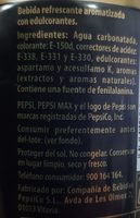 Pepsi Max sans cafeine - Ingrédients - fr