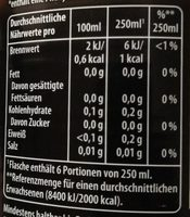 Pepsi max ginger - Nährwertangaben
