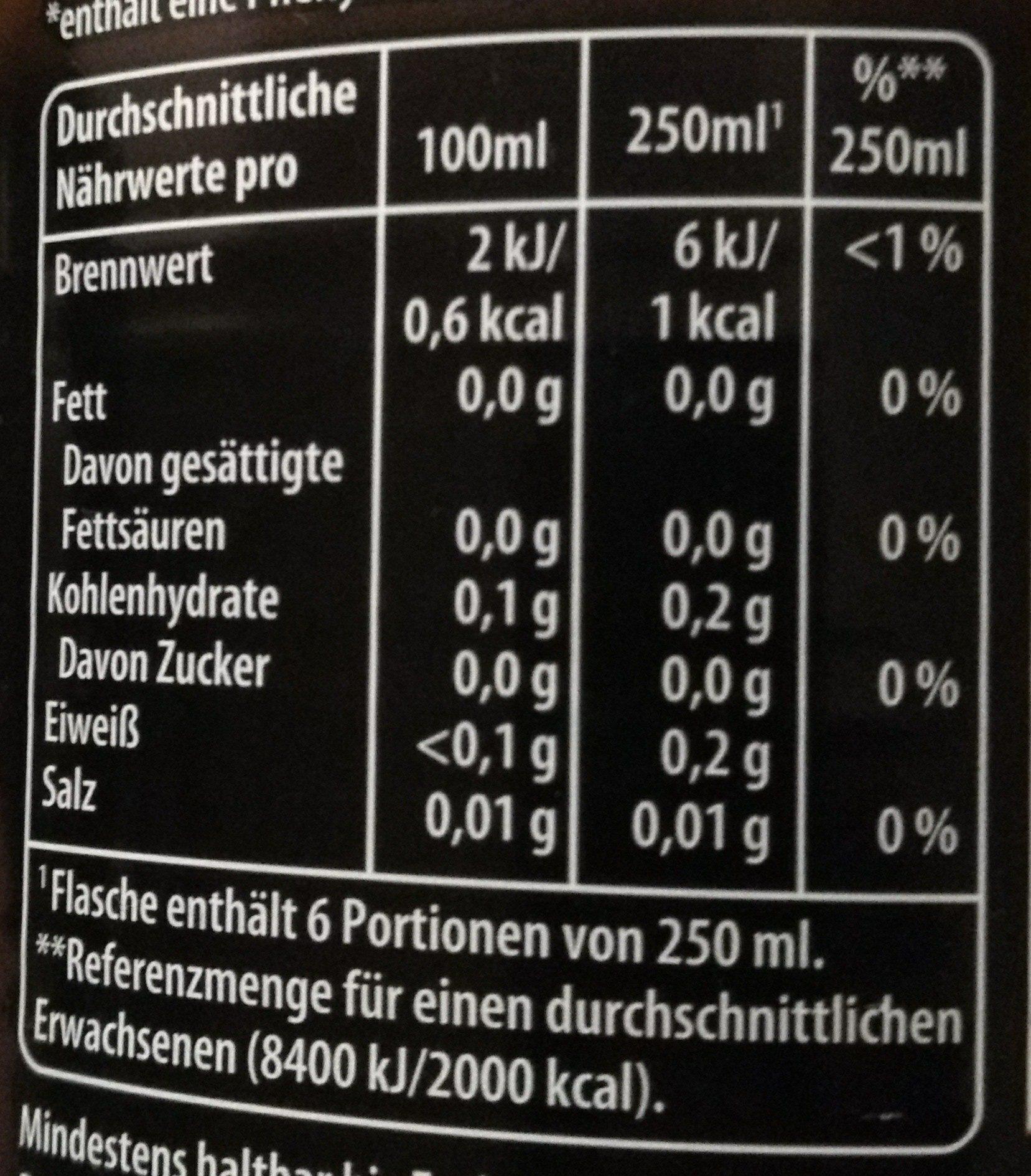 Pepsi max ginger - Informations nutritionnelles - de