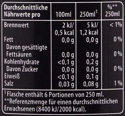 Pepsi Max Lemon - Informations nutritionnelles - de