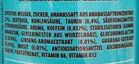 Rockstar Freeze - Ingredients - de