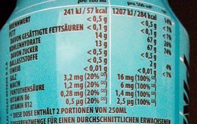 Rockstar Freeze - Nutrition facts - de