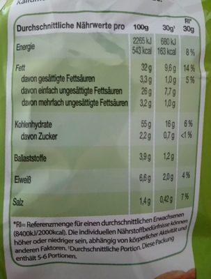 Sœur Cream & Onion - Nutrition facts