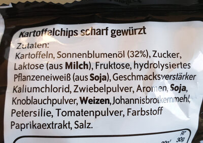 Lays Hot and Spicy - Zutaten - de