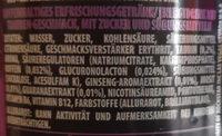 Rockstar xdurance energy grape - Ingrédients - de