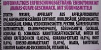Rockstar Energy - Guava Pineapple - Inhaltsstoffe - de